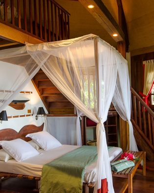 The Luxury Beach Villa of the Princesse Bora Lodge & Spa in Sainte-Marie in Madagascar.